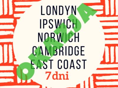 Anglia – Wschodnie Wybrzeże + Londyn 🔶SUPER OKAZJA🔶