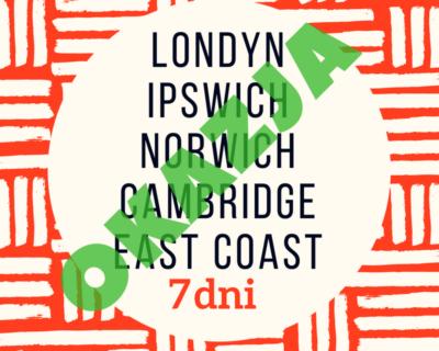 Anglia – Wsch. Wybrzeże + Londyn Wycieczka szkolna autokarem