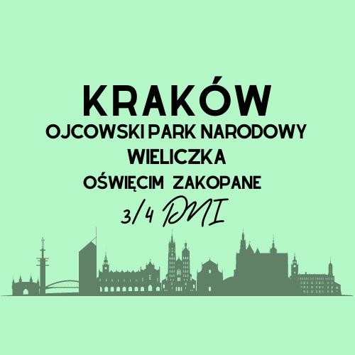 Wycieczka szkolna Kraków Wieliczka ojcowski park narodowy Oświęcim